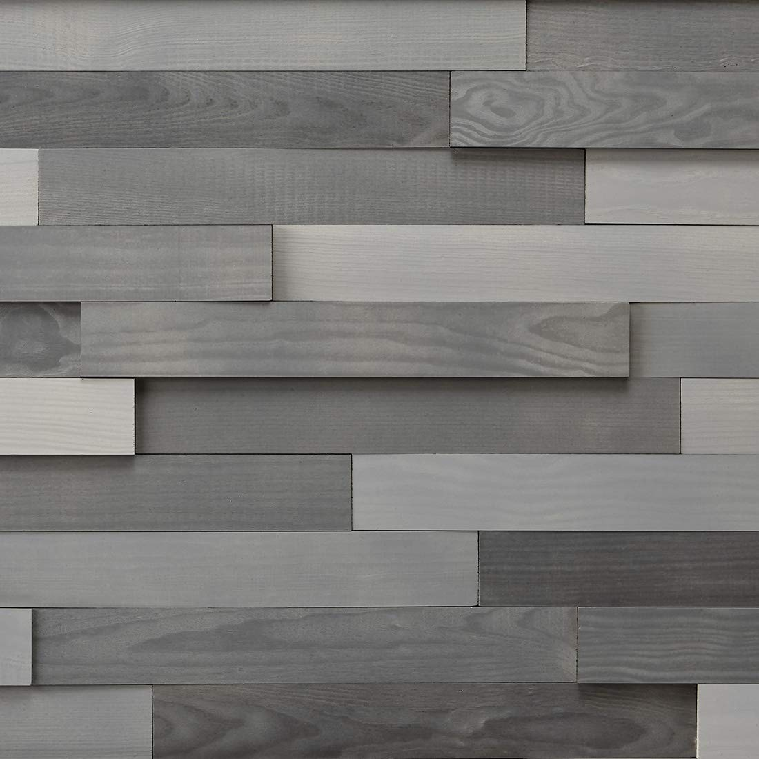 Timberwall - Landscape Collection Urban - DIY Wood Wall Panel - Solid Wood Planks - Easy Peel and Stick Application - 9.8 Sq Ft