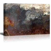 "wall26 - Canvas Wall Art - Abstract Agate Slice Pattern - Giclee Print Gallery Wrap Modern Home Art Ready to Hang - 32"" x 48"""