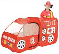 Ankecity Fire Engine Truck Pop-up Play Tent for Toddlers, Boys & Girls Pretend Playhouse for Kids