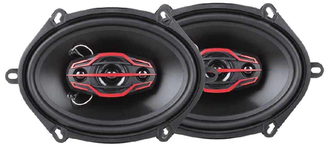 Dual Electronics DLS574 4-Way (6 x 8) or (5 x 7) inch Car Speakers with 160 Watt Power & 35mm Mylar Balanced Dome Midrange