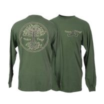 Peace Frogs Adult Wild Tree Long Sleeve T-Shirt (Military Green, XXX-Large)