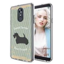 TalkingCase Phone Cover for LG Stylo 5, Scotch Terrier Dog Print, Light Weight, Ultra Flexible, Super Thin, Soft Touch, Photo-Quality Anti-Scratch Printing, Designed and Printed in USA
