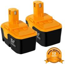 2Pack 18V 3600mAh Replace for Ryobi Battery P100 P101 ONE+ 130224028 130224007 ABP1801 ABP1803