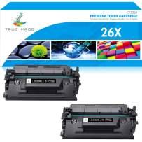 True Image Compatible Toner Cartridge Replacement for HP 26X CF226X 26A CF226A Laserjet Pro M402n M402dn M402 M426 M426fdn Laser Jet MFP M426fdw M426dw M402dw Printer Ink High Yield (Black, 2-Pack)