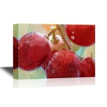wall26 - Fruits Canvas Wall Art - Grapes in Water - Gallery Wrap Modern Home Decor | Ready to Hang - 16x24 inches