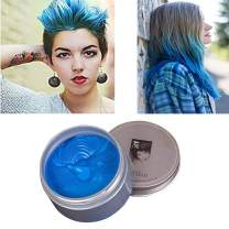 Blue Hair Color Wax, Temporary Hair Color 4.23 oz for Clubbing, Daily Use, Party, Cosplay, Halloween (Blue)