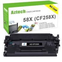Aztech Compatible Toner Cartridge Replacement for HP 58X CF258X 58A CF258A Laserjet Pro M404n M404dn MFP M428fdw M428dw No Chip (Black, 1-Pack)
