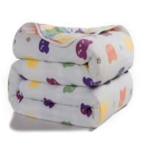 "Joyreap 6 Layers of 100% Muslin Cotton Summer Blanket - Soft Lightweight Summer Quilt for Teens & Kids - Hypoallergenic Durable and Comfortable Throw Blanket (Bear, 79""x 94"")"