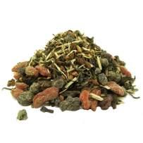 The Whistling Kettle Endurance Tea- Energizing Organic Herbal Tea with Pu-erh, Cinnamon, and Berries - 4oz (48 servings)