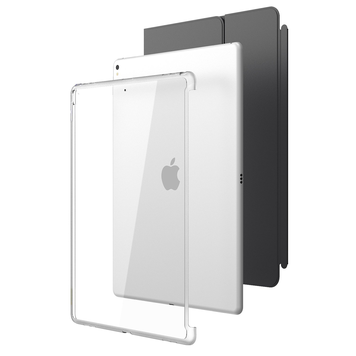 New iPad Pro 12.9 2017 Case, i-Blason [Compatible with Official Smart Cover and Smart Keyboard] Clear Hybrid Cover Case for Apple iPad Pro 12.9 2017 Release,Not Fit iPad Pro 12.9 2018 (Clear)