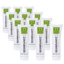 Rembrandt Deeply White + Peroxide Whitening Toothpaste, Fresh Mint Flavor, 2.6-Ounce (12 Pack)