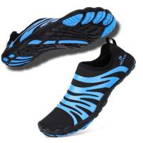 hiitave Men Barefoot Water Shoes Beach Aqua Socks Quick Dry for Outdoor Sport Hiking Swiming Surfing