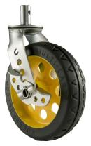 """Rock-N-Roller R8CSTR/RT Replacement R-Track Caster with Brake for R12 Multi-Carts, 8"""" x 2"""""""