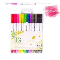 Dual Tip Markers Brush Pen for Kids,GOLP Drawing Pens Art Painting Pens,Art Profession Drawing Coloring Pens,Artist Watercolor Pens,Beginners Drawing Kit (12 Colors Pen Set)
