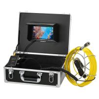 """Lixada Pipe Inspection Video Camera, 20M/30M IP68 Waterproof Drain Pipe Sewer Inspection Camera with 7"""" LCD Monitor 12 LEDs Night Vision Industrial Endoscope Borescope Inspection System Snake Camera"""