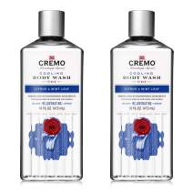 Cremo Cooling Body Wash, Citrus & Mint Leaf, Refreshing Scent With A Lively Blend Of Peppermint, 16 Fl Oz, Pack of 2