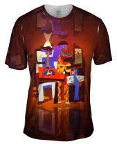 Yizzam- Pablo Picasso - Three Musicians (1921) -Tshirt- Mens Shirt
