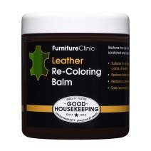 Furniture Clinic Leather Recoloring Balm (8.5 fl oz) - Leather Color Restorer for Furniture, Repair Leather Color on Faded & Scratched Leather Couches - 16 Colors of Leather Repair Cream (Pine Green)
