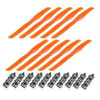 uxcell RC Propellers CW 8040 8x4 Inch 2-Vane Fixed-Wing for Airplane Toy, Nylon Orange 10pcs with Adapter Rings