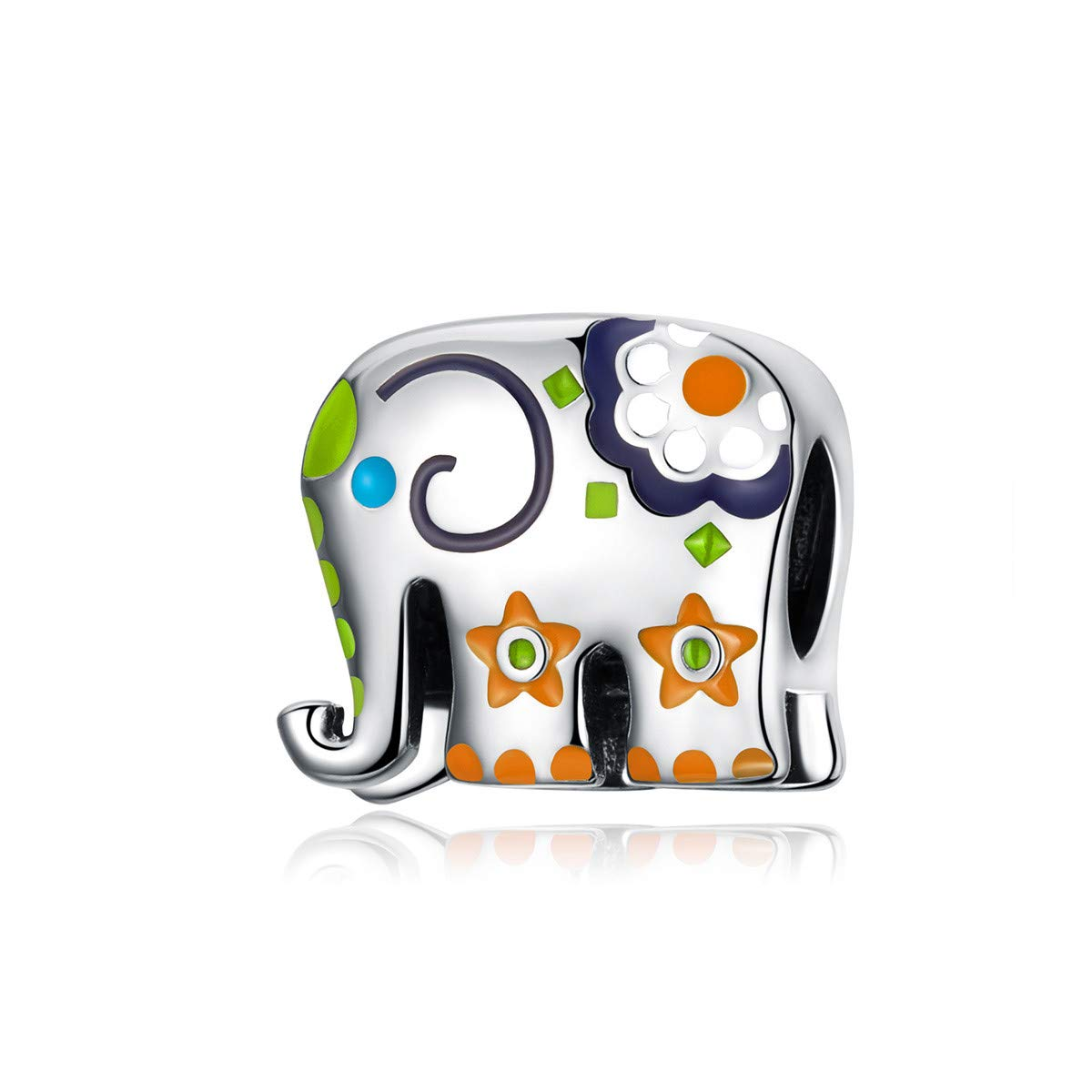 BAMOER 925 Sterling Silver Charm for Women 925 Sterling Silver Animal Charms for DIY Making Jewelry Bracelet