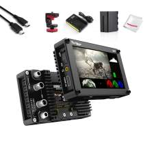 """Portkeys BM5 HDMI-SDI 5.2"""" Touch Screen Monitor 2200 Nits Brightness, Support 3D Luts Loading, Built-in Camera Control Module, w/Cold Shoe Mount, Battery Kit, Mini USB Cable for Controlling Canon DSLR"""