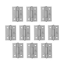 Adiyer [10 Pack] 304 Stainless Steel Butt Hinges for Cabinet Cupboard Jewelry Box (38mm x 30.5mm x 1mm)