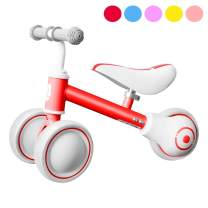 Baby Balance Bike for 1 Year Old, Mini Bike Baby Bike Toddler Bike for 12-36 Months, Toys for 1 Year Old Gifts No Pedal Baby Push Bike, 1st Birthday Gift for Baby Boys Girls (Red, Adjustable Height)