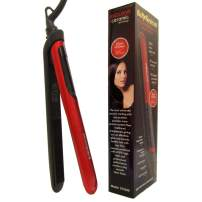 Flat Iron Hair Straightener 1 inch Ceramic Tourmaline for All Hair Types with Digital Display and Constant Heat Up Within 30s 110V-220V Dual Voltage with Self Locking
