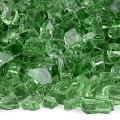 American Fireglass 10-Pound Fire Glass with Fireplace Glass and Fire Pit Glass, 1/4-Inch, Evergreen
