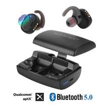Bluetooth 5.0 Wireless Earbuds, Bluetooth in-Ear Headphones with Deep Bass 3000mAh Power Bank Charger Case IPX7 Waterproof 200 Hours Playtime Mic for iPhone iPad Android, One-Step Pairing, Apt-X