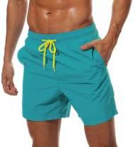 MAGCOMSEN Men's Quick Dry Swim Trunks with Mesh Lining Beach Shorts Boardshorts Swim Shorts 3 Pockets