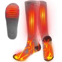 SVPRO Men WomenRechargeable Electric Heated Socks Battery Heat Thermal Sox,Sports Outdoor Winter Novelty Warm Heating Sock,Climbing Hiking Skiing Foot Boot Heater Warmer(Gray)