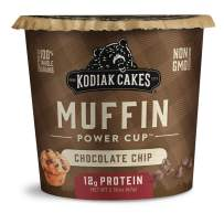 Kodiak Cakes Minute Muffins, Chocolate Chip, 2.29 Ounce (Pack of 12)