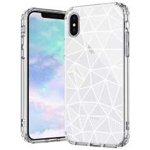 MOSNOVO Geometric Pattern Designed for iPhone Xs Case/Designed for iPhone X Case - Clear