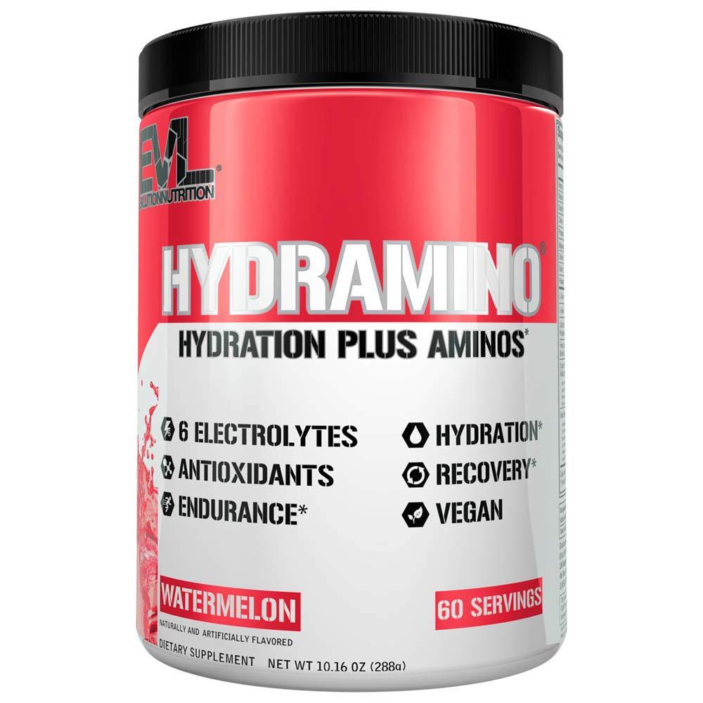 HYDRAMINO Complete Hydration Multiplier, All 6 Electrolytes, Vitamin C & B, Fluid Boosting Aminos, Coconut Water, Endurance & Recovery, Immunity Support, Antioxidants, 0 Sugar, 60 Serve, Watermelon