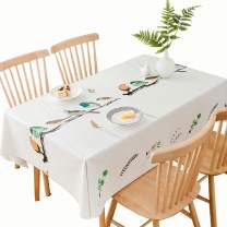 DUOFIRE Vinyl Tablecloth Rectangle Heavy Weight Table Cover Wipe Clean Waterproof (54 x 86.6 Inch, Color-no.022)