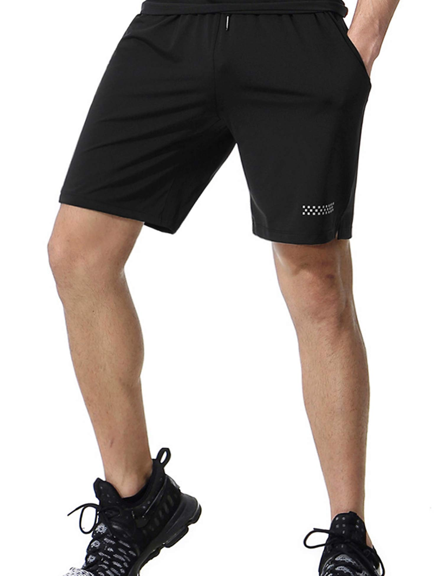 poriff Men's Lightweight Workout Running Athletic Shorts with Pockets