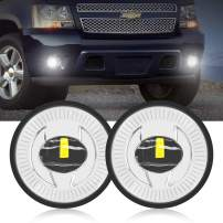 Tugwuetlwu Led Fog Lights 5202 for Chevy(Chevrolet) 10-13 Camaro/07-14 Suburban/Tahoe/07-13 Avalanche/15-16 Colorado/15 Silverado/GMC Acadia/Yukon/Yukon 2020 Newest version Led Headlamp Pair Chrome