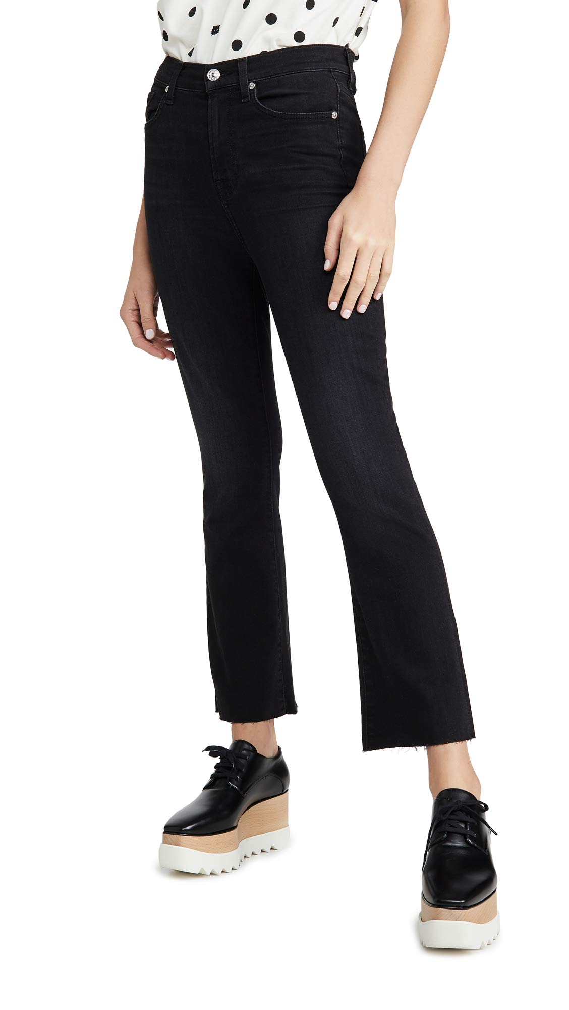 7 For All Mankind Women's High Rise Slim Kick Jeans