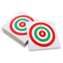 "100 Pack Air Shot Paper Targets 5.5"" x 5.5"" for Pellet Trap Pellet Catcher Target Holder"