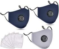 3 PCS Washable Reusable Adjustable Cotton Face Madks, 2N2G