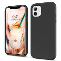 YINLAI iPhone 11 Case 2019 Liquid Silicone Slim Fit Soft Rubber Cover Non Slip Grip Shockproof Protective Hybrid Hard Back Bumper Durable Man Phone Covers for iPhone 11(6.1 inch),Black