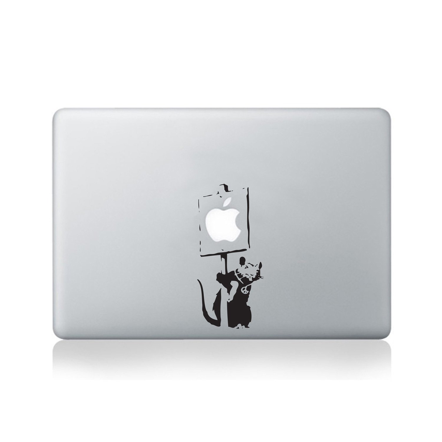 Banksy Rat Holding Sign Vinyl Decal for MacBook (13/15) or Laptop