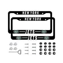 Yaweya Football Team Logo 2 Pcs Car Licenses Plate Frames 2 Holes Stainless Steel