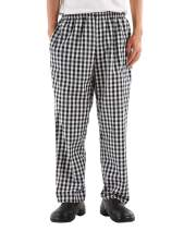 Men's and Women's Elastic Stripe Chef Pants Floral Restaurant Work Pants and Uniforms Baggy Chef Pants