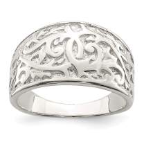 925 Sterling Silver Swirl Design Band Ring Fine Jewelry For Women Gifts For Her