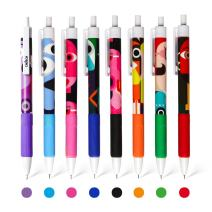 CHoSCH 8 Colors Retractable Gel Ink Roller Ball Pen Set, Fast Dry, 0.5MM Extra Fine Point Super Smooth Writing For Coloring And Writing,8-Count