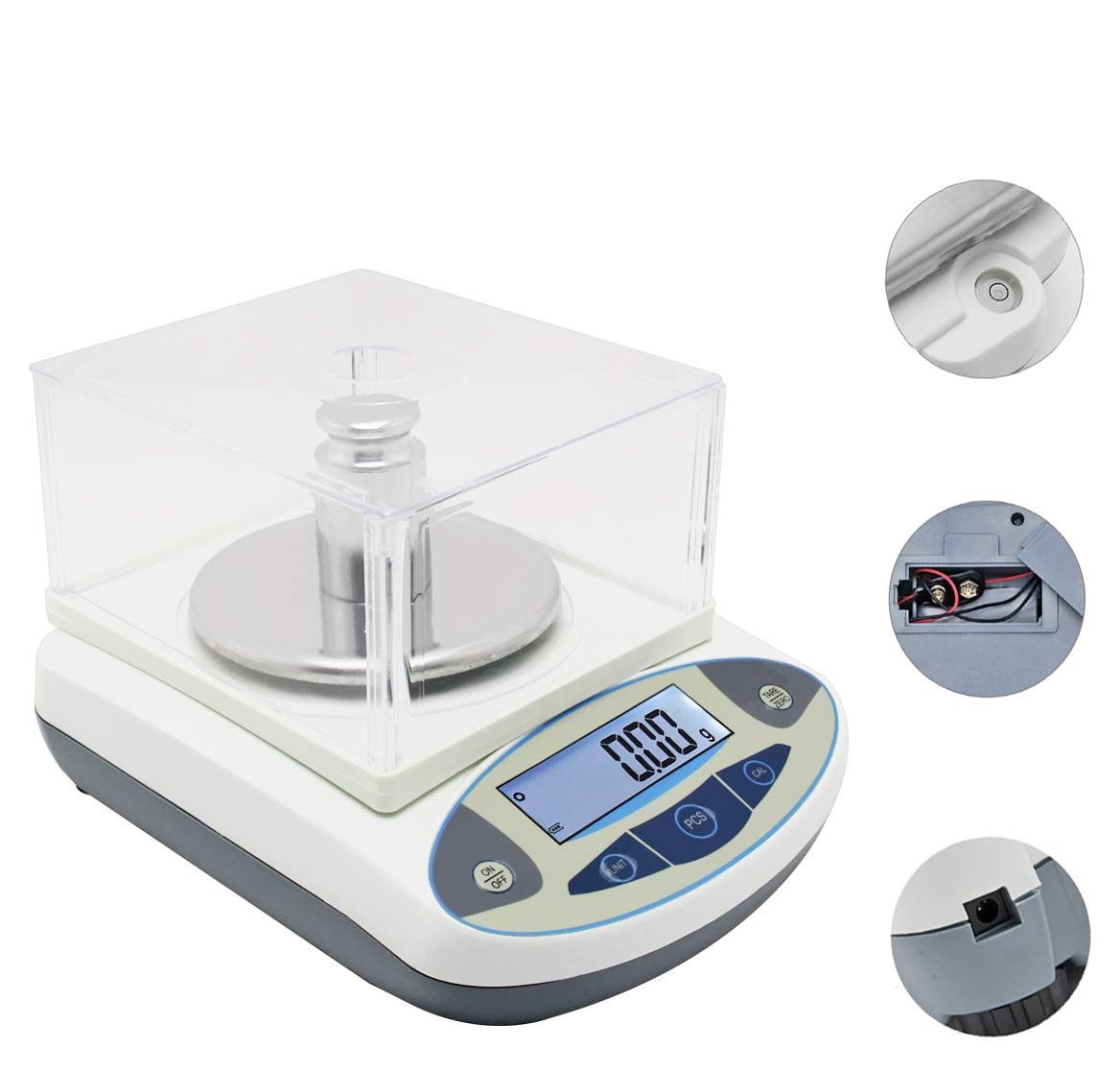 CGOLDENWALL High Precision Lab Scale Digital Analytical Electronic Balance Laboratory Lab Precision Scale Jewelry Scales Kitchen Precision Weighing Electronic Scales 0.01g Calibrated (300g, 0.01g)