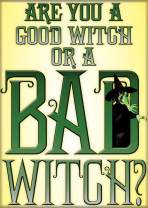 """Ata-Boy Wizard of Oz Good Witch Bad Witch 2.5"""" x 3.5"""" Magnet for Refrigerators and Lockers"""