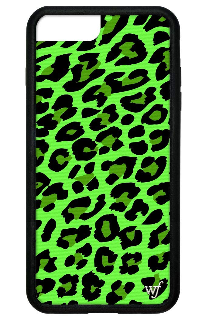 Wildflower Limited Edition Cases for iPhone 6 Plus, 7 Plus, or 8 Plus (Neon Green Leopard)